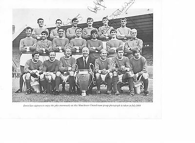 Manchester United 1968 Genuine signed authentic autographs UACC / AFTAL
