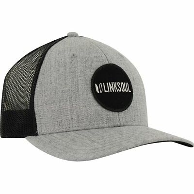 01c3a9d94d3 Linksoul Wool Blend Mesh Trucker Heather Grey Headwear Men Fits All