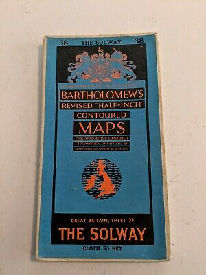The Solway Bartholomews Fold Out Cloth Map Sheet 38