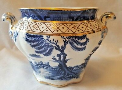Antique Booths Real Old Blue Willow Sugar Bowl - No Lid