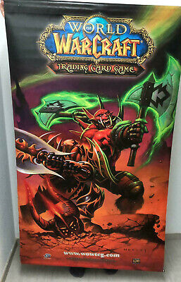 WOW / Warcraft Offizielles Promotion Wallscroll Fires of Outland EXTREM SELTEN!