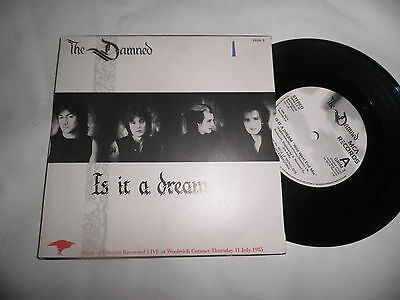 "the damned is it a dream 7"" record punk new wave gothic"