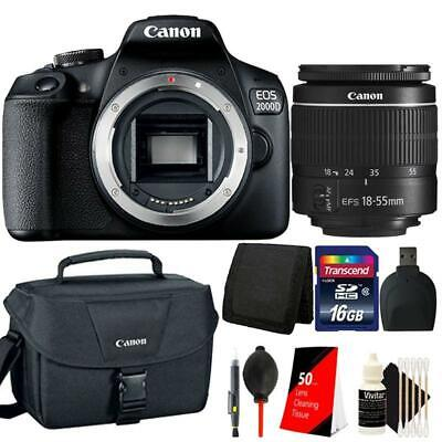 Canon EOS 2000D / Rebel T7 24.1MP DSLR Camera + 18-55mm lens + 32GB Best Bundle