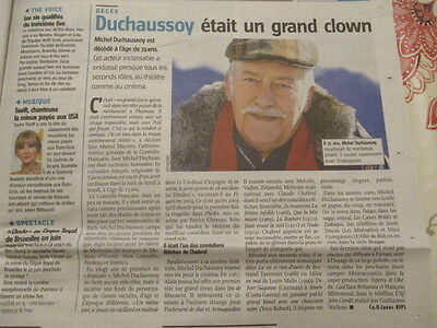 Journal Du Deces De : Michel Duchaussoy 14/03/2012