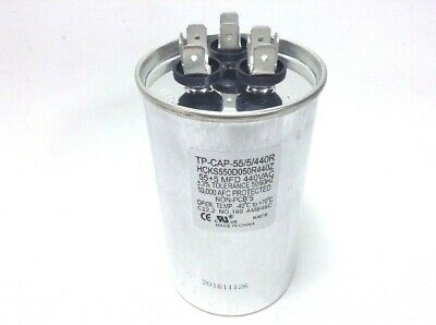 45/5 MFD 440 Volt Dual Round Run Capacitor for Carrier 38tkb042300
