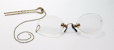 Giore 14 Spectacles W/Chain & Hairpin>Plays<Civil War Re-Enactments Kd341