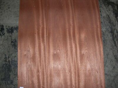 Sapele Wood Veneer. 6 x 60, 5 Sheets.