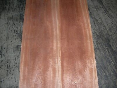 Figured Sapele Wood Veneer. 11 x 69, 9 Sheets.