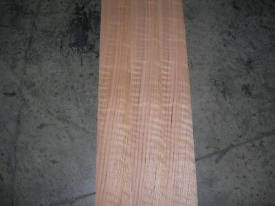 Figured Red Oak Wood Veneer. 4 x 30, 23 Sheets.