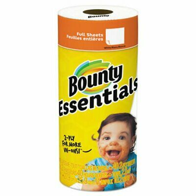 Bounty Essentials Paper Towels, 2-Ply, White, 10.2 x 11, 40 Sheets (PGC74657RL)