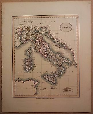 JOHN CARY MAP OF ITALY 1813 FROM HIS New Elementary Atlas