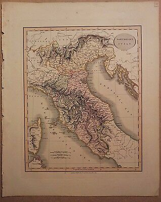 JOHN CARY MAP OF NORTH EAST ITALY 1813 FROM HIS New Elementary Atlas