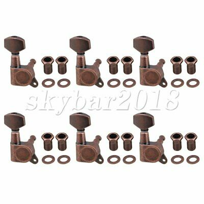 6R Right Electric Guitar String Tuning Pegs Keys Tuners For Strat Tele Bronze