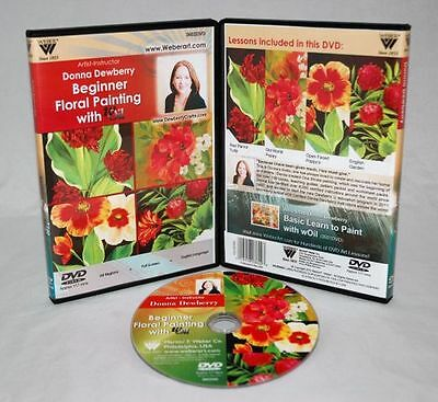 Donna Dewberry DVD, Beginner Floral Painting, non-toxic Oil painting lessons