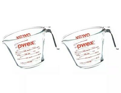 2 Packs Of Pyrex Prepware 1-Cup Measuring Cup, Clear with Red Measurements 1 Cup