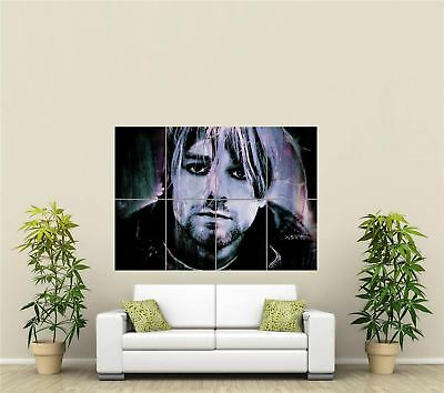 Kurt Cobain Rock Band Giant Picture Art Print New Poster Picture