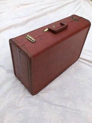 "Vintage Taperlite Hardside Suitcase by Sardis Luggage - Brown - 22"" x 15"" x 8"""