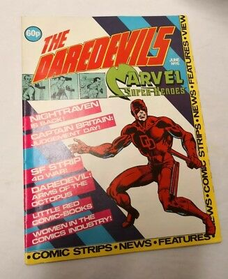 Marvel's THE DAREDEVILS #6, 1983, British Monthly Comic + Colour Poster