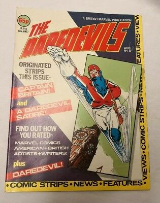 Marvel's THE DAREDEVILS #8, 1983, British Monthly Comic + Colour Poster
