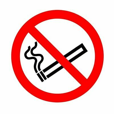 No Smoking Self-Adhesive Stickers Clear or White (Various quantities available)