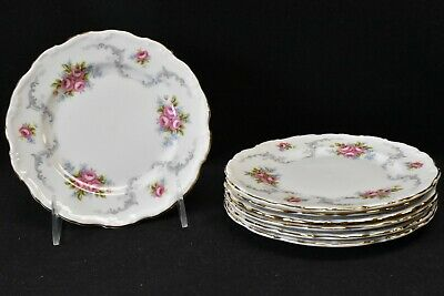 Royal Albert England Bone China Tranquillity Set of 7 Bread & Butter Plates