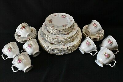 Royal Albert England Tranquillity Set of 8 Five Piece Place Settings - 40 Pieces