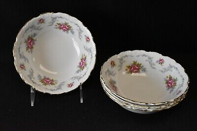 Royal Albert England Bone China Tranquillity Set of 4 Cereal Bowls