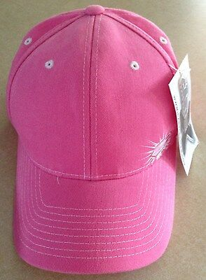 NWT Ladies Pink Castle X Racewear Hat Adjustable Baseball Cap