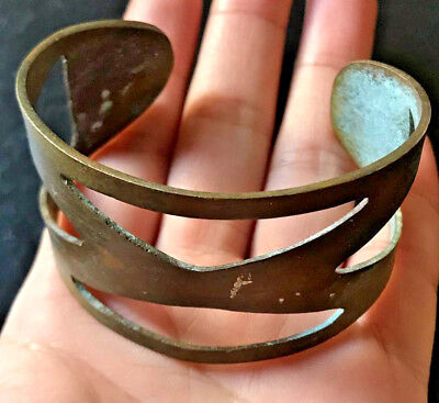 RARE!! Ancient VIKING BRONZE Bracelet museum quality VERY Stunning
