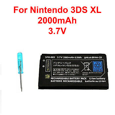 OEM Battery Replacement + Tool For Nintendo 3DS XL 2000mAh 3.7V Rechargeable New