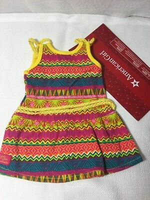 American Girl Doll Lea Clark Tropical Meet Outfit Dress Only Clothes Authentic
