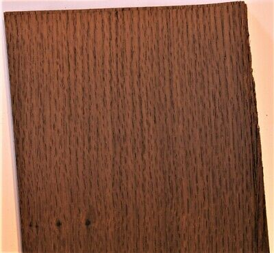 Fumed Oak Raw Wood Unbacked Veneer  32 x 6 inches          4706-05