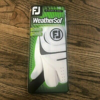 WeatherSof One Pack Mens Left Hand Small White Golf Glove by FootJoy NEW in Box