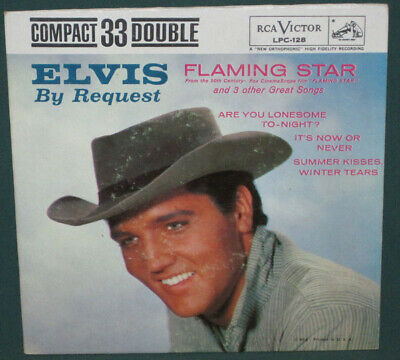 Elvis Presley RCA LPC-128 Compact 33 By Request Flaming Star EP Original 1961