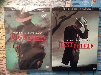 Lot coffrets dvd JUSTIFIED saison 4 NEUF SOUS CELLO + la saison 5