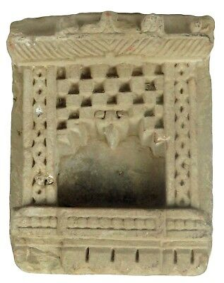 Antique Carved Stone Indian Temple Devotional Statue Niche 16Th Gandhara Look