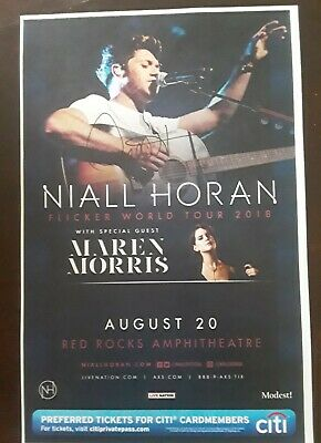 Niall Horan One Direction Signed Solo Tour Red Rocks Concert Flyer Proof