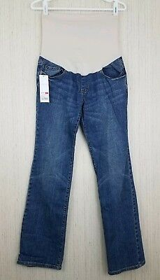 4cfd01a377cf9 NWT Liz Lange Size 4 Maternity Jeans Full Belly Boot Cut 3 in 1 Flex Panel