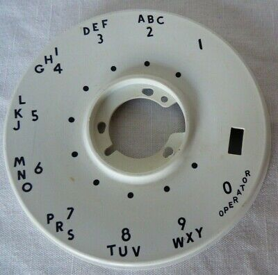 Western Electric White DIAL NUMBER PLATE 500 Set 1950s Vintage raised center