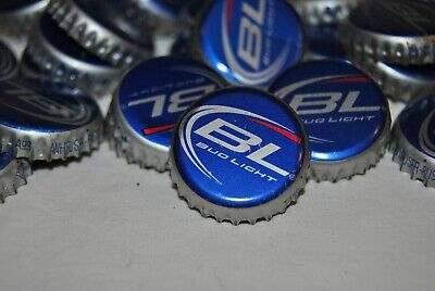 100 Budweiser Lite Bottle Caps Clean,Dent Free-For Crafts