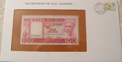 Banknotes of All Nations Cape Verde 1977 P54 100 Escudos UNC Prefix D/4