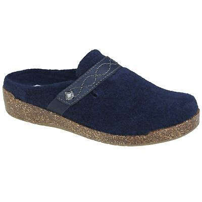 Planet Shoes Womens Amelia Comfort Slipper in Navy