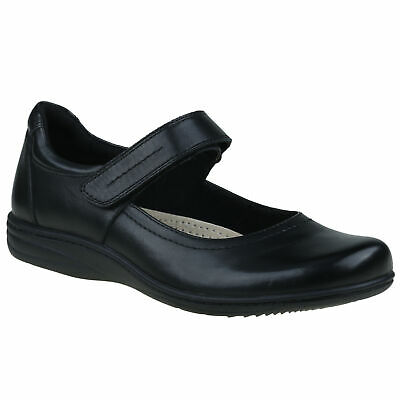 Planet Shoes Womens Rebel Comfort Work Shoe in Black Leather