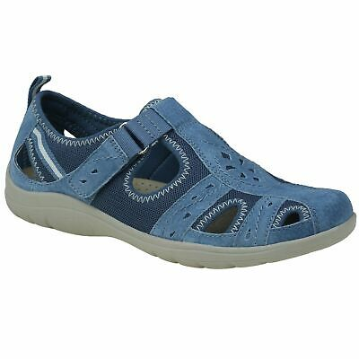 Planet Shoes Womens Energy2 Comfort Closed in Toe Walking Sandal in Blue Leather