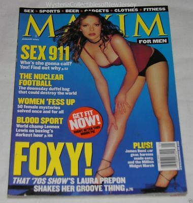 MAXIM Magazine January 2000 FOXY Laura Prepon 186 Pages