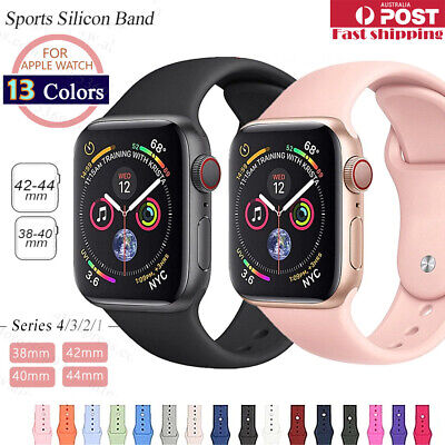 Sports Silicone Bracelet wrist band For Apple Watch Series 4 3 2 1-38 40 42 44mm