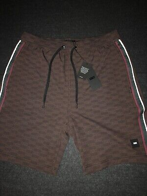 845d08b4cd0e2 Kith Unreleased Tilden Swim Trunk All Over Box Logo Brown Shorts Size L New  Rare