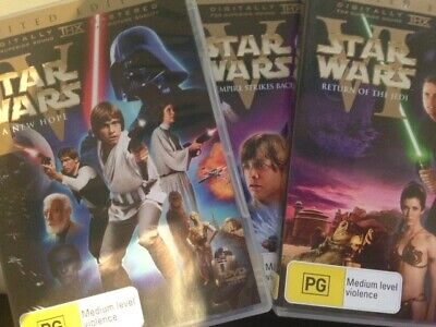 STAR WARS - Original Theatrical Trilogy Limited Edition 6 DVD Box Set IV V VI