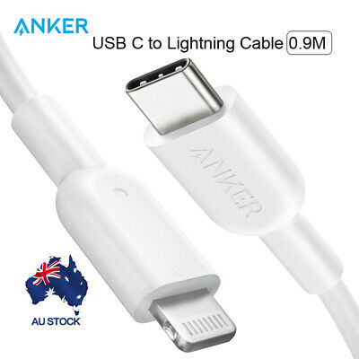 Anker USB C to Lightning Cable Powerline II with MFi Certified for iPhone X 0.9M