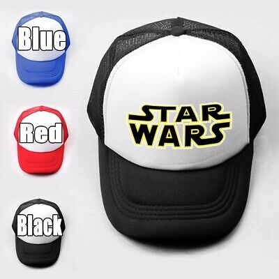 The Empire Fashion Star Wars Pattern Trucker Baseball Cap Solid Mesh Curved Hat